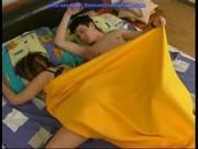 Озабоченный сын трахает спящую мать