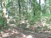 Старый трахнул молодую в лесу