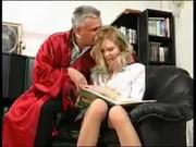 Похотливый дед ебет внучку после занятий