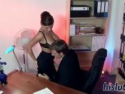 Трахнул секретаршу с большими сиськами